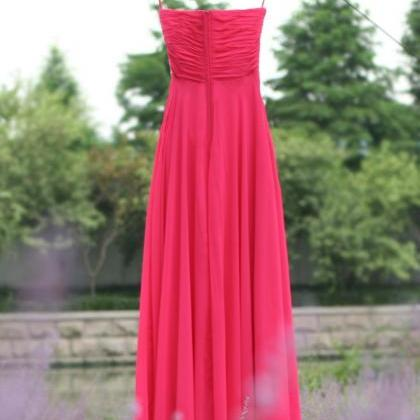Sweetheart red Beaded Long prom dre..