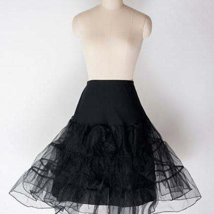 Black Women's Swing Petticoat Vinta..