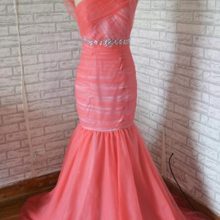New style sleeveless mermaid long formal evening prom dress,elegant party dress,beaded evening gown